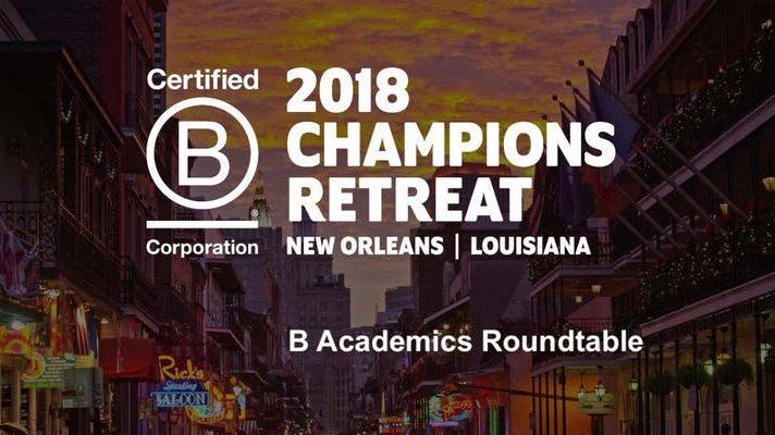 B Academics Roundtable 2018